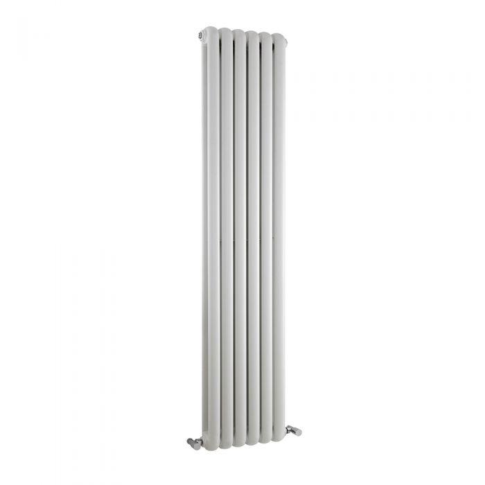 Saffre Designradiator Verticaal Klassiek Wit 150cm x 38,3cm x 8cm 1258 Watt