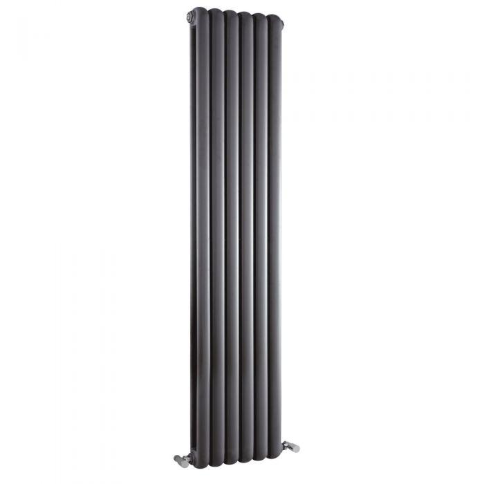 Saffre Designradiator Verticaal Klassiek Antraciet 150cm x 38,3cm x 8cm 1258 Watt