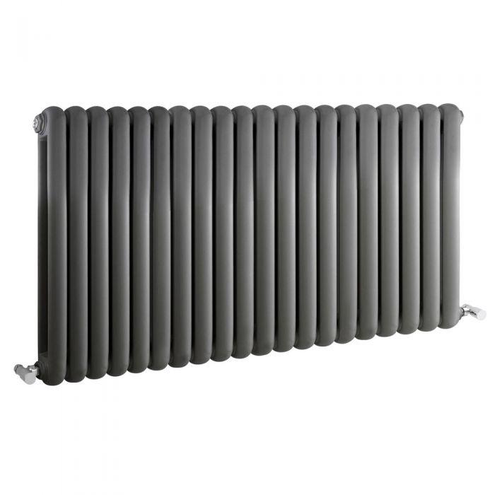 Saffre Designradiator Horizontaal Klassiek Antraciet 63,5cm x 122,3cm x 8cm 2082 Watt