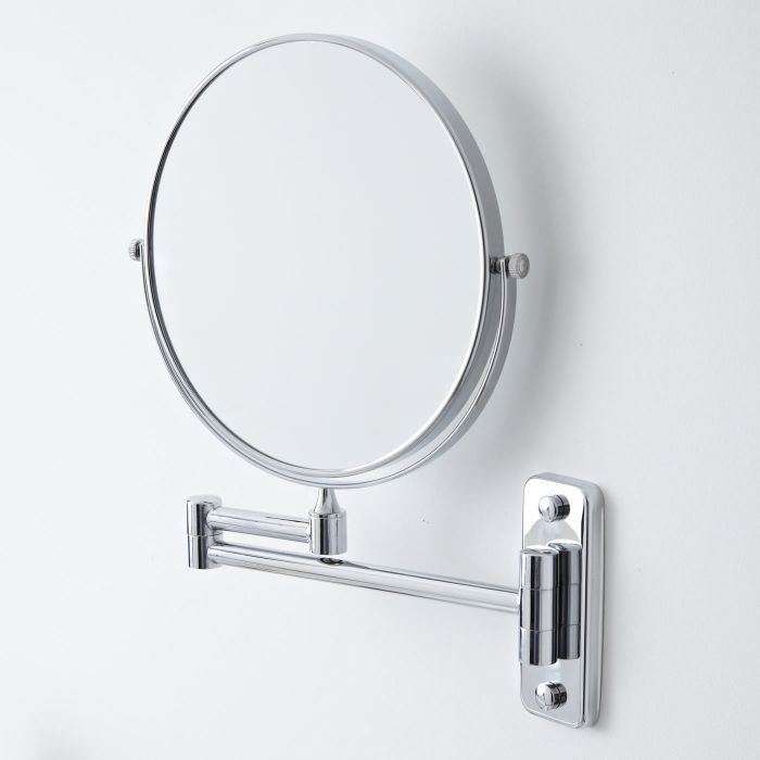 Scheerspiegel - Uittrekbaar en 2x Vergrotend d.20.2cm