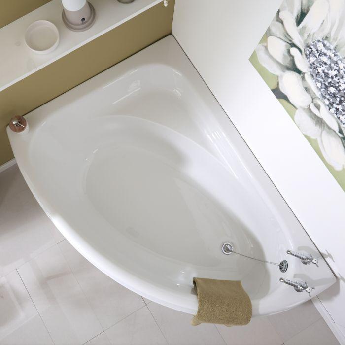 Acryl Hoekbad met zitje - linker uitvoering - 150cm x 102cm