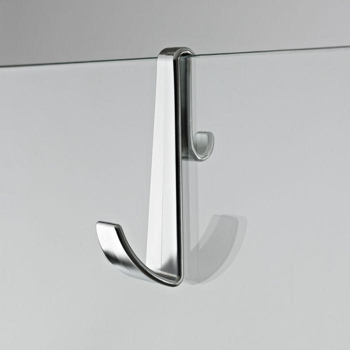 Handdoekhaakje geschikt voor douchewanden, -deuren en badwanden ( zonder frame)