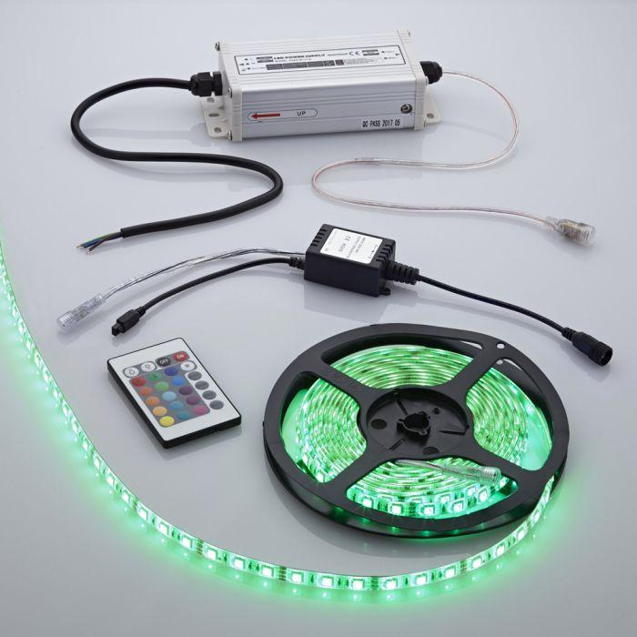 Biard Waterbestendige LED 5050 strip verlichting incl IR Controller - 5 meter - Rood/Groen/Blauw/Wit