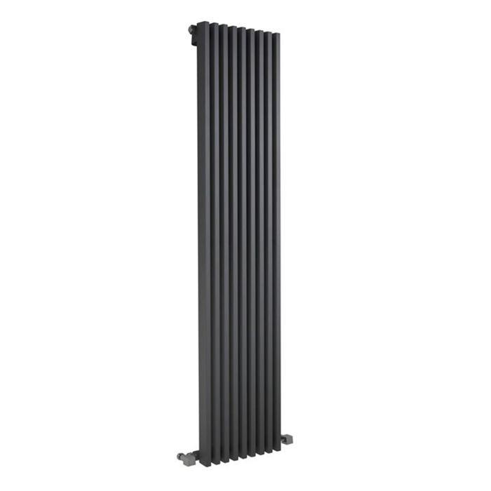 Parallel Designradiator Verticaal Antraciet 178cm x 34,2cm x 8,4cm 1177 Watt