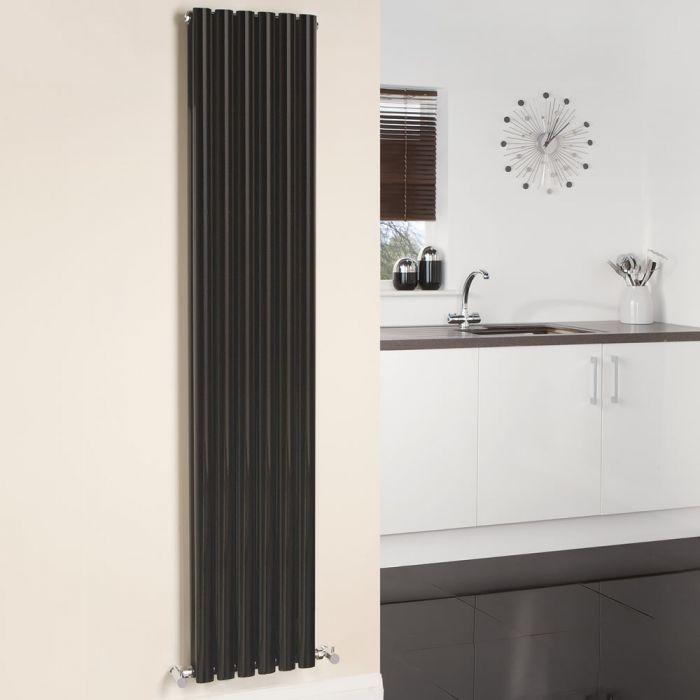 Revive Designradiator Verticaal Zwart 178cm x 35,4cm x 7,8cm 1401 Watt