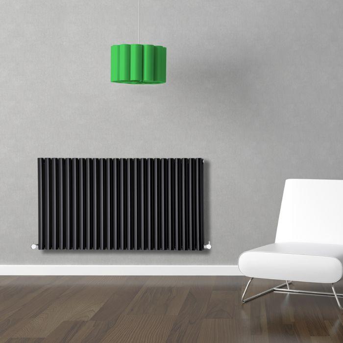 Revive Designradiator Horizontaal Zwart 63,5cm x 141,1cm x 7,8cm 2236 Watt