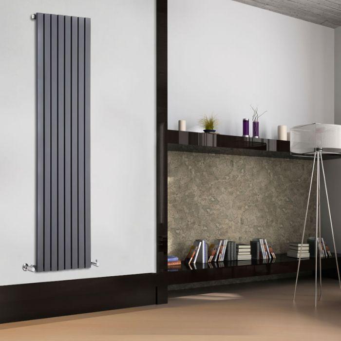 Sloane Designradiator Verticaal Antraciet 178cm x 47,2cm x 5,3cm 1196 Watt