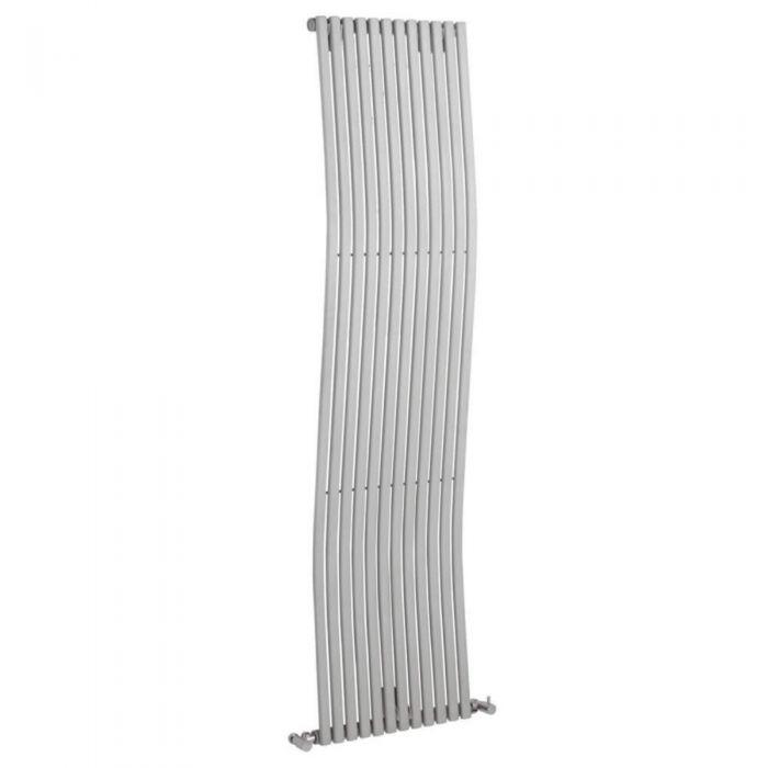 Bolero Designradiator Verticaal Zilver 160cm x 45,6cm x 9cm 1185 Watt