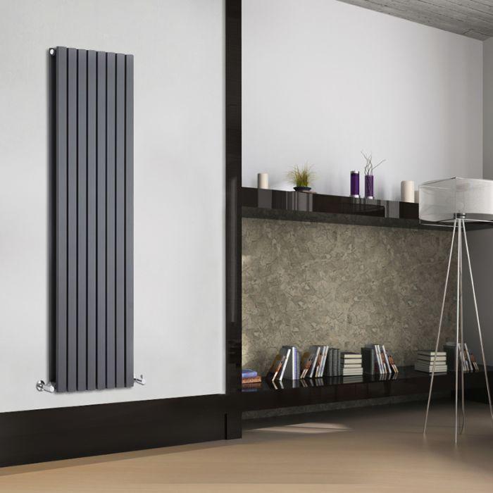Sloane Designradiator Verticaal Antraciet 160cm x 47,2cm x 7,2cm 1591 Watt