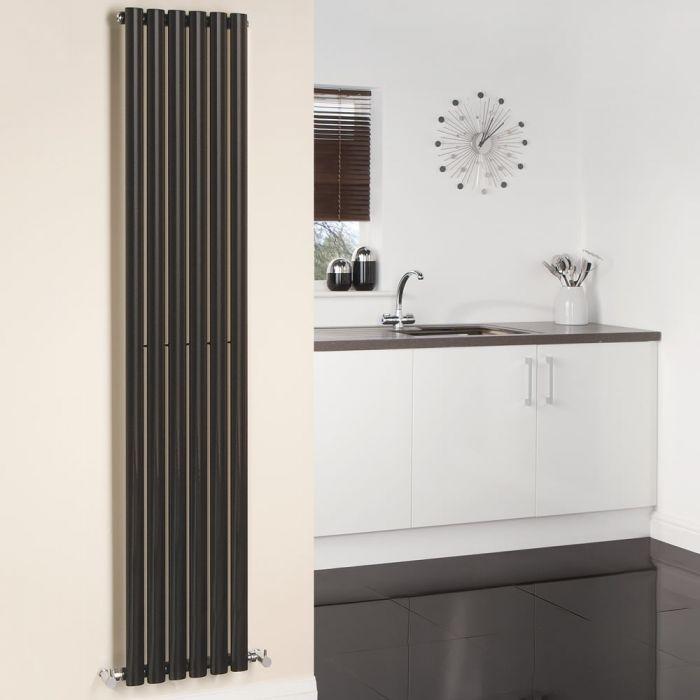 Revive Designradiator Verticaal Zwart 178cm x 35,4cm x 5,6cm 892 Watt