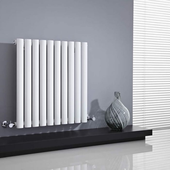 Revive Designradiator Horizontaal Wit 63,5cm x 59,5cm x 5,5cm 597 Watt