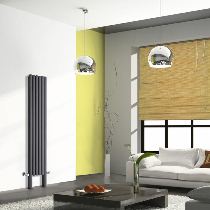 Revive Plus Designradiator Verticaal Met poten Antraciet 180cm x 35,4cm x 7,8cm 1228 Watt