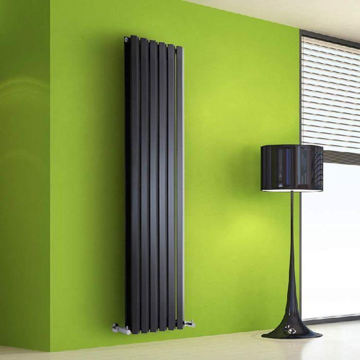 Helius Designradiator Verticaal Zwart 160cm x 42cm x 8,6cm 1475 Watt
