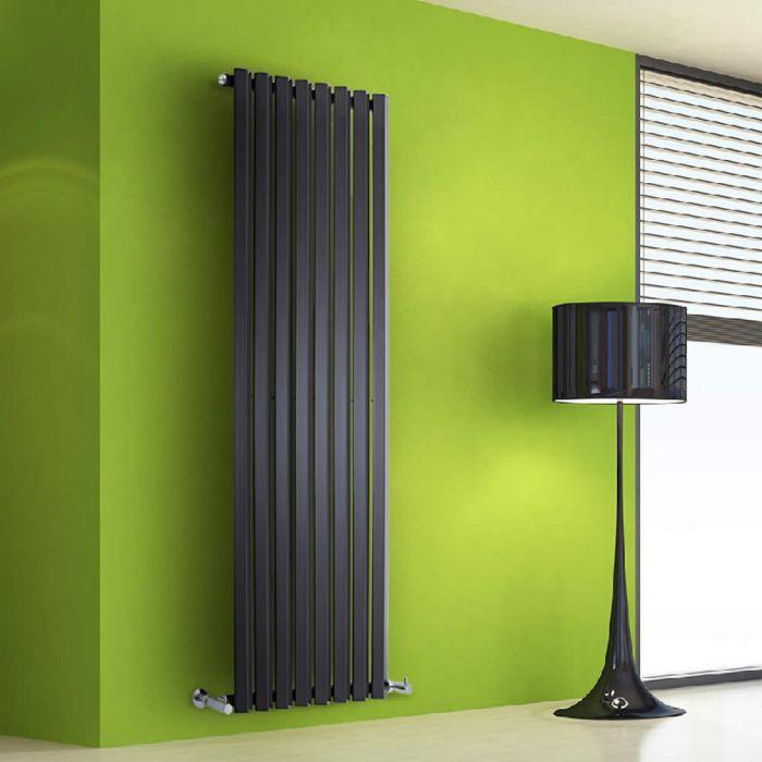 Helius Designradiator Verticaal Zwart 160cm x 56cm x 6cm 1261 Watt
