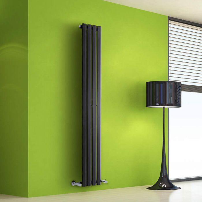 Helius Designradiator Verticaal Zwart 160cm x 28cm x 6cm 630 Watt