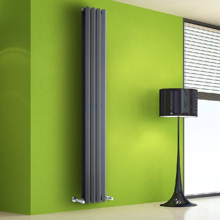 Helius Designradiator Verticaal Antraciet 178cm x 28cm x 8,6cm 1079 Watt
