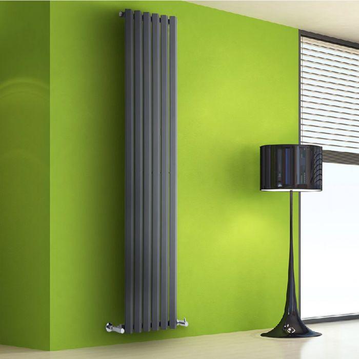 Helius Designradiator Verticaal Antraciet 178cm x 42cm x 6cm 1050 Watt
