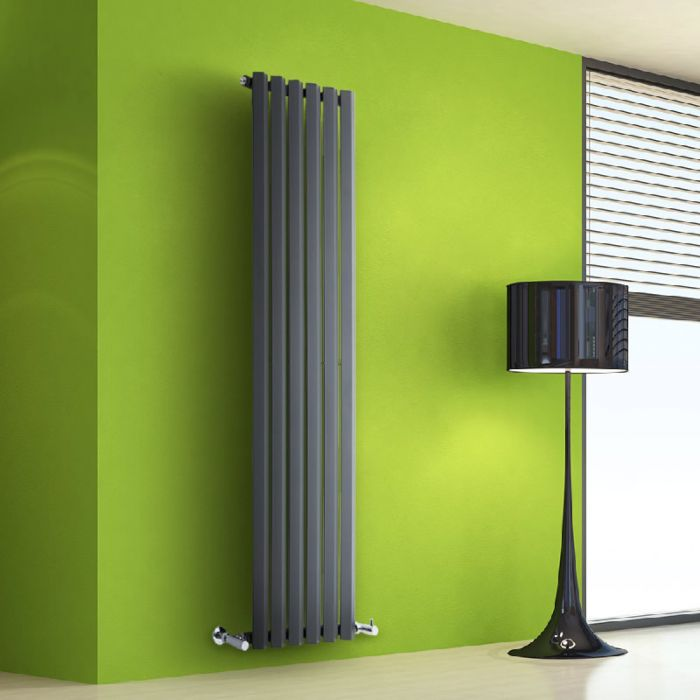 Helius Designradiator Verticaal Antraciet 160cm x 42cm x 6cm 946 Watt