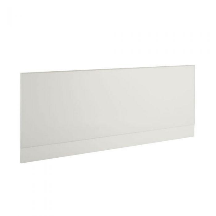 1 x Wit Voorpaneel voor bad inclusief badplint- 170cm x 48/55cm