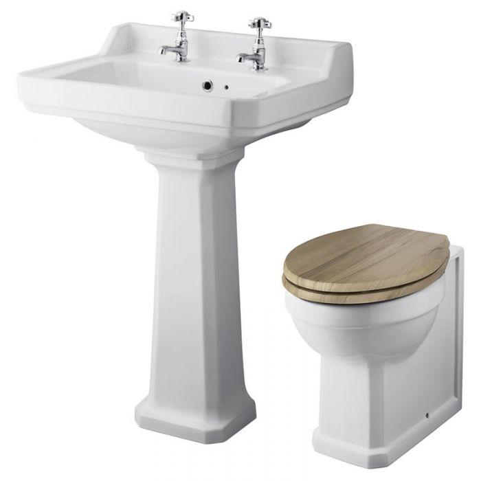 Richmond Wastafel - 59,5m & Toilet excl. Reservoir en Keuze Toiletzitting