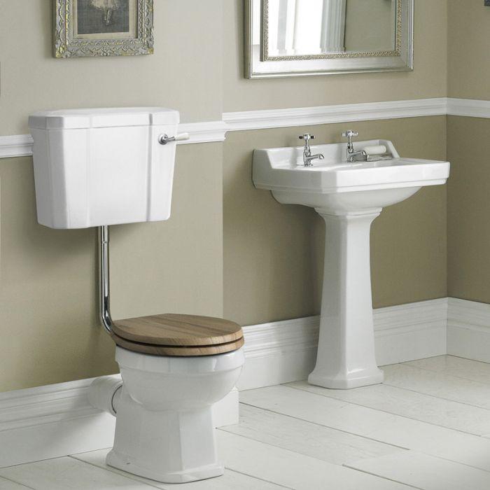 Richmond Wastafel - 56cm & Halfhoog Toilet en Keuze Toiletzitting