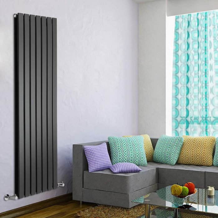 Delta Designradiator Verticaal Zwart 160cm x 118cm x 6cm 1543 Watt