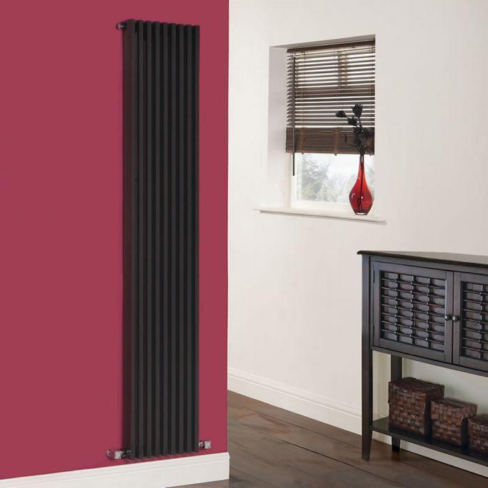 Parallel Designradiator Verticaal Zwart 178cm x 34,2cm x 8,4cm 1177 Watt