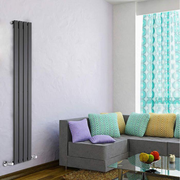 Delta Designradiator Verticaal Zwart 160cm x 28cm x 4,7cm 586 Watt
