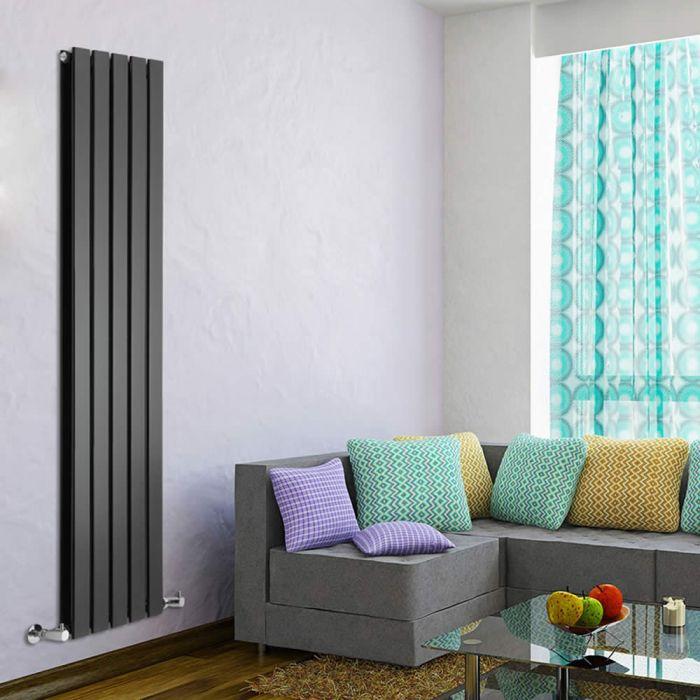 Delta Designradiator Verticaal Zwart 160cm x 35cm x 6cm 1102 Watt