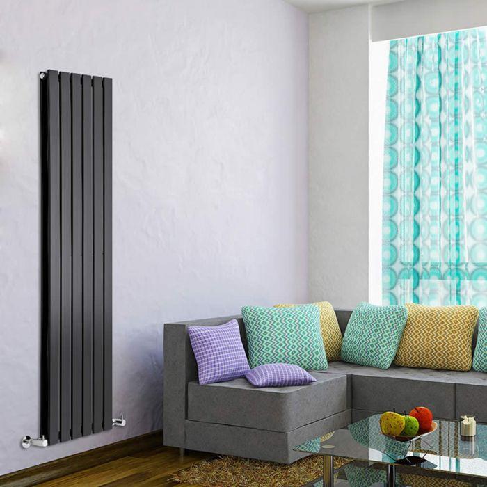 Delta Designradiator Verticaal Zwart 160cm x 42cm x 6cm 1323 Watt