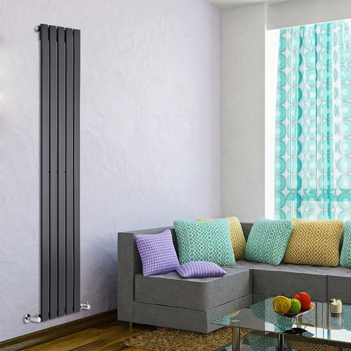 Delta Designradiator Verticaal Zwart 178cm x 35cm x 4,7cm 823 Watt