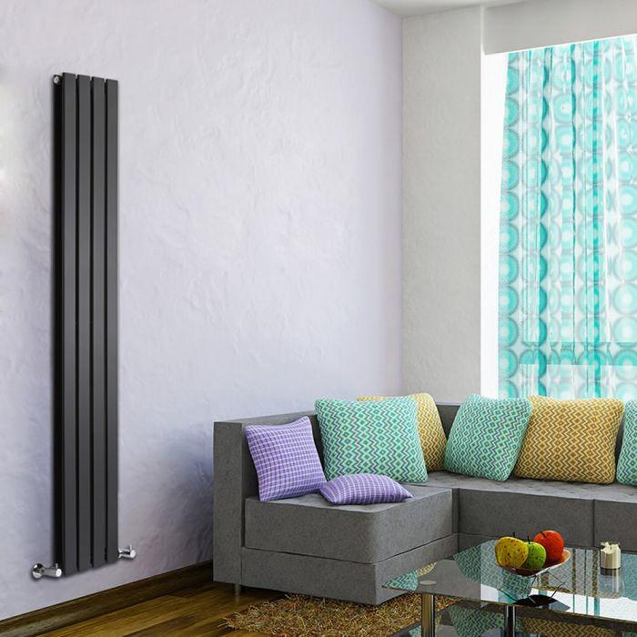 Delta Designradiator Verticaal Zwart 178cm x 28cm x 6cm 990 Watt