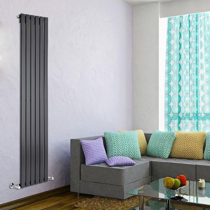 Delta Designradiator Verticaal Zwart 178cm x 100cm x 4,7cm 987 Watt