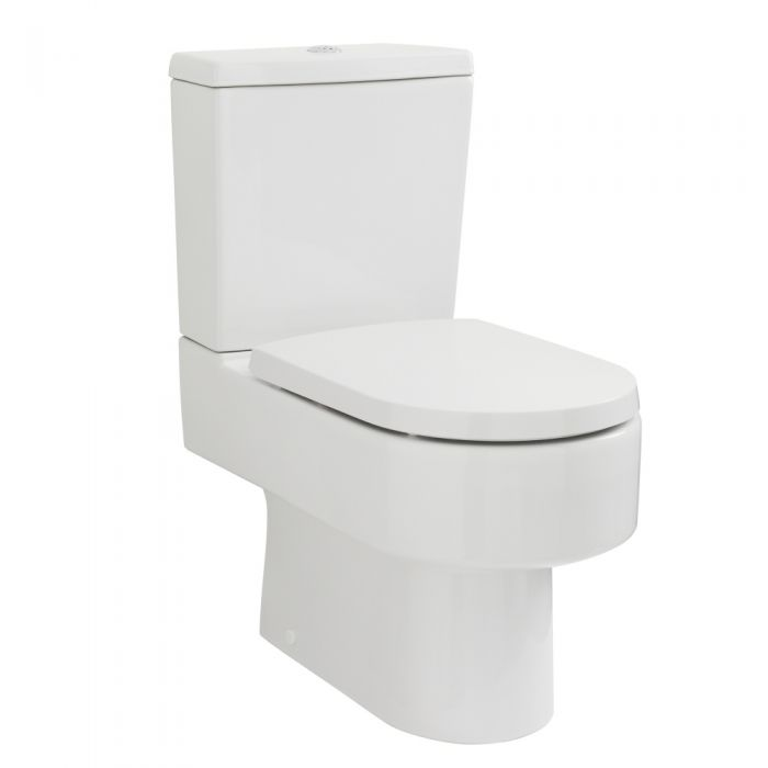 Retro Duoblok toilet met Waterreservoir en Toiletzitting