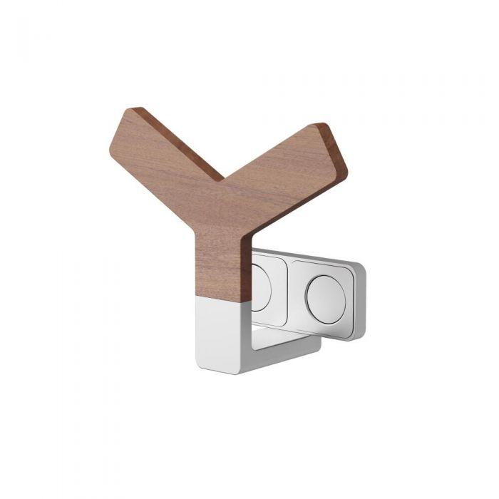 Y Handdoekrek 13 x 15 x 6,5cm Teakkhout en Aluminium