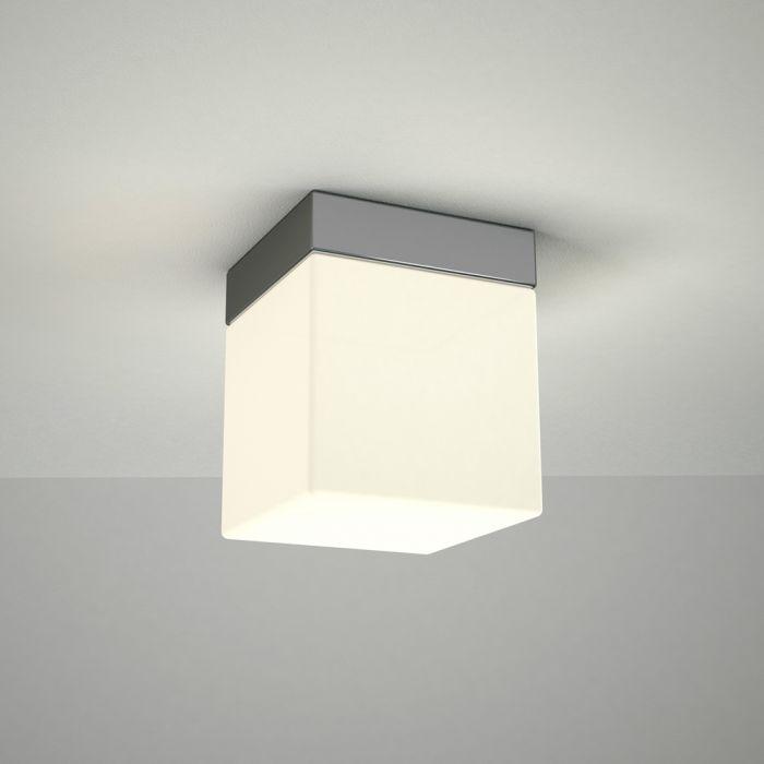 Omedeo LED Badkamer Plafondlamp Vierkant 10cm x 10cm  6W Chroom LED IP44