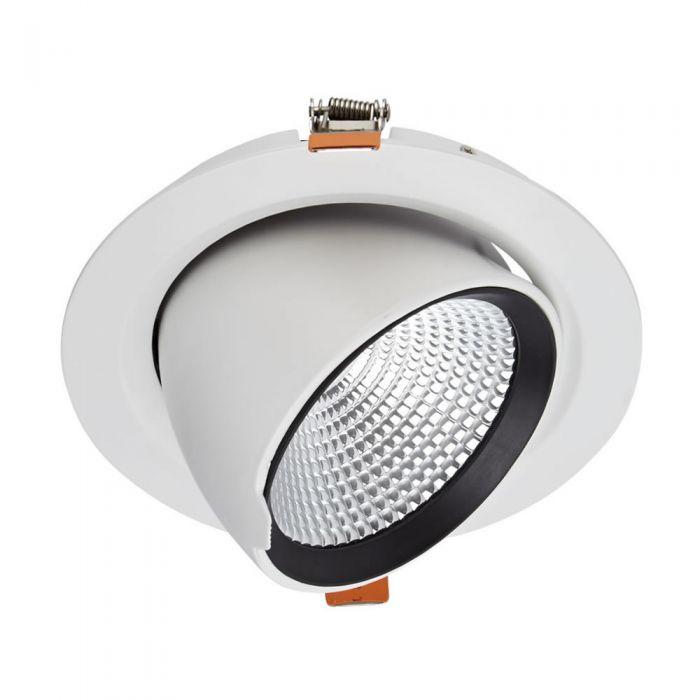 Biard 35W Dimbare & Kantelbare COB LED Inbouwspot incl Lamp & Driver - Wit