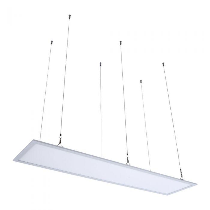 Biard RVS Suspensie Draden voor 30x 120 cm LED Paneelverlichting - 100cm
