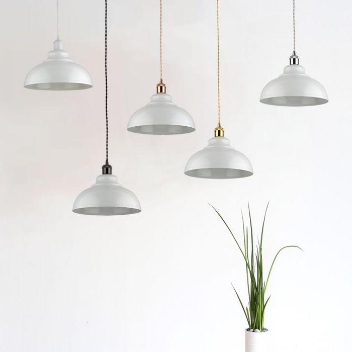 Biard Dalston Hanglamp Wit E27 (keus uit 5 fitting kleuren)