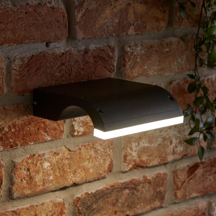 Biard Livada LED 10W IP54 Wandlamp - Zwart