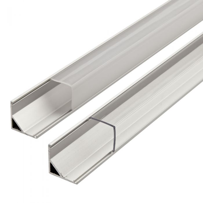 Biard 1 Meter Aluminium Hoek Profiel voor LED Stripverlichting - Doorzichtig of Opaal Matt