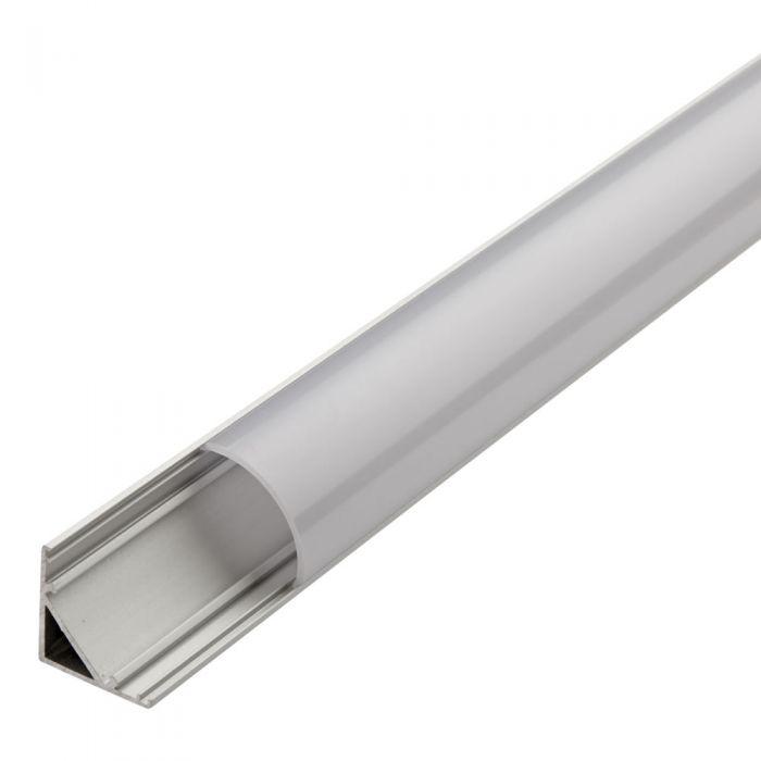 Biard 1 Meter Aluminium Hoek Profiel voor LED Stripverlichting - Afgeronde Doorzichtig of Matte Afdekkap