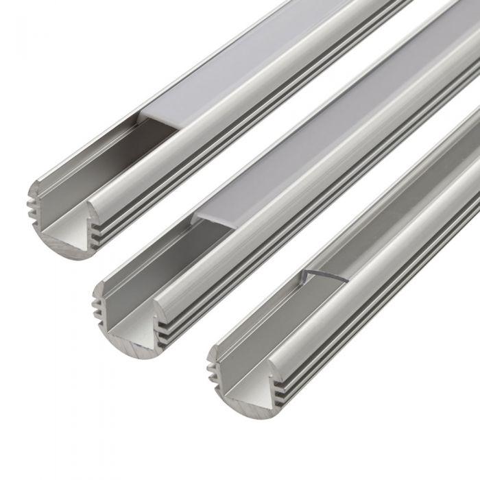 Biard 1 Meter Aluminium Halfrond Profiel voor LED Stripverlichting - Doorzichtig, Mat of Opaal Matte Afdekkap