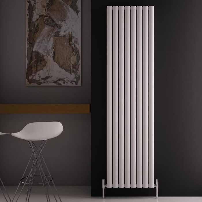 Revive Air Verticale Aluminium Dubbelpaneel Designradiator - 180cm x 47cm x 7,6cm Wit 2004 Watt
