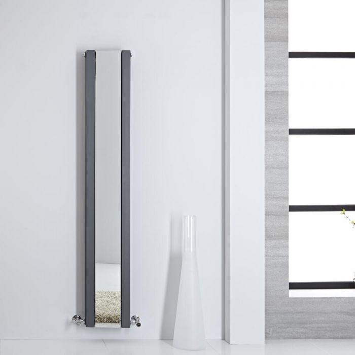 Sloane Spiegelradiator Verticaal Dubbelpaneel 160m x 26,5cm x 7,2cm Antraciet 789 Watt