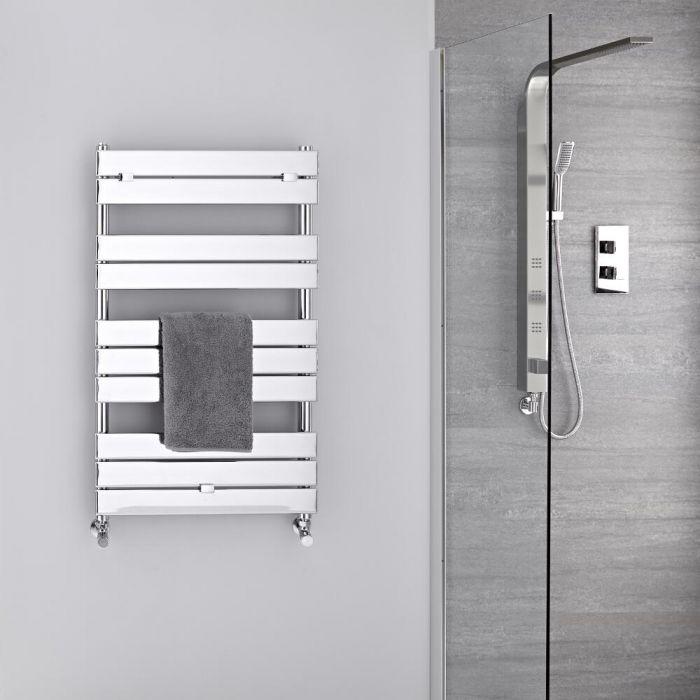 Lustro Verchroomd Handdoekradiator Staal Chroom 100cm x 60cm x 4,5cm 385Watt