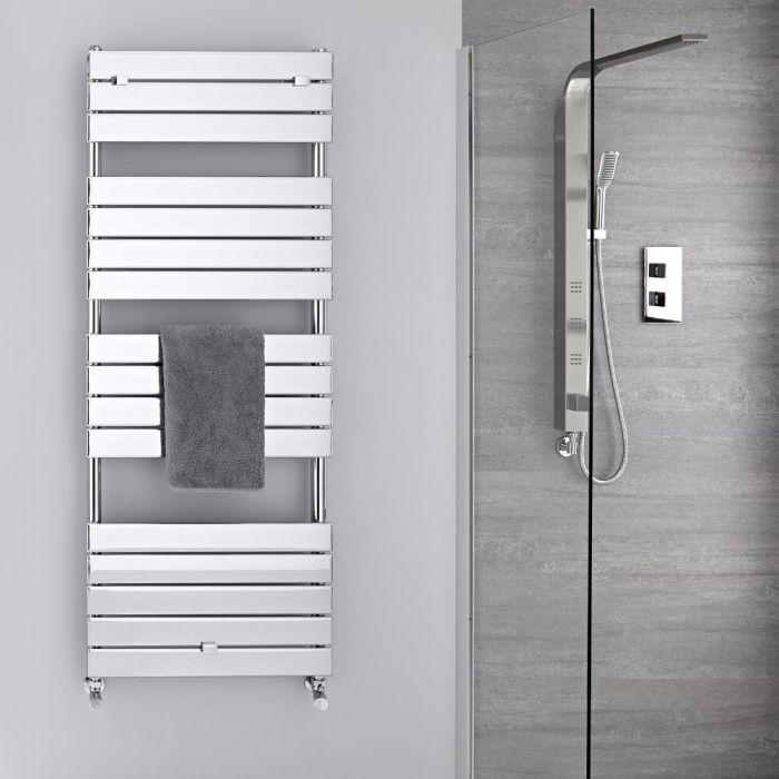 Lustro Verchroomd Handdoekradiator Staal Chroom 151,2cm x 60cm x4,5cm 666 Watt