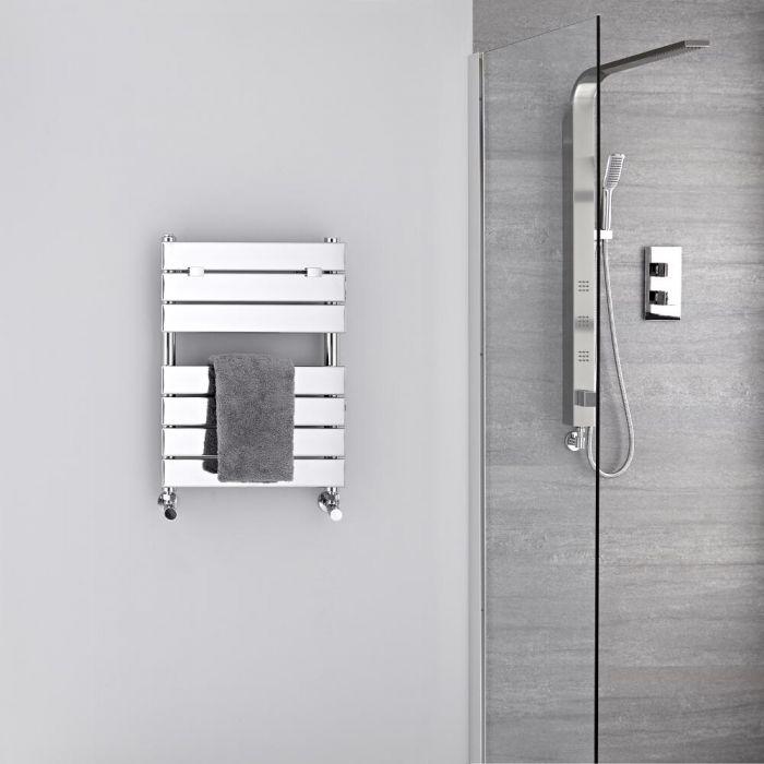 Lustro Verchroomd Handdoekradiator Staal Chroom 62cm x 45cm 4,5cm 209Watt