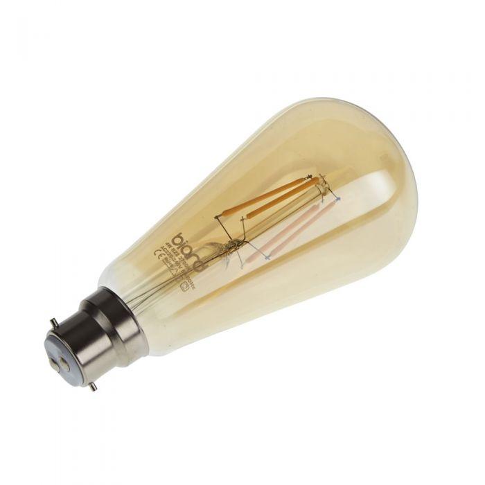 Biard 6 x LED Retro Gloeilamp Gouden Tint Dimbaar 4W B22