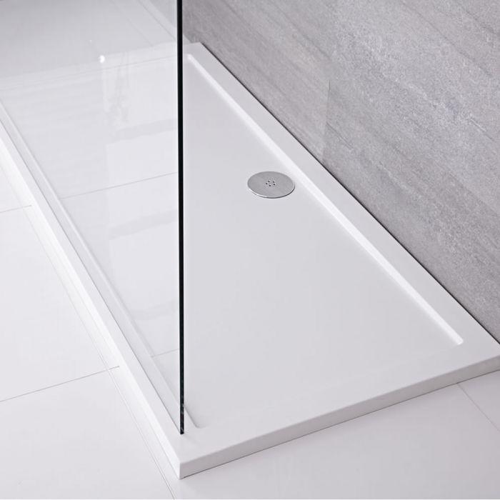 Pearlstone XL Douchebak Acryl Rechthoek Wit 160cm x 80cm x 4cm